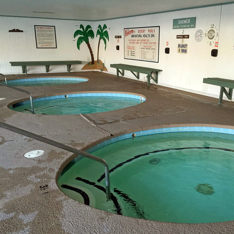 Hot tubs at Desert Pools RV Resort