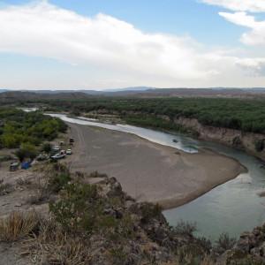 Camping near Boquillas, Mexico