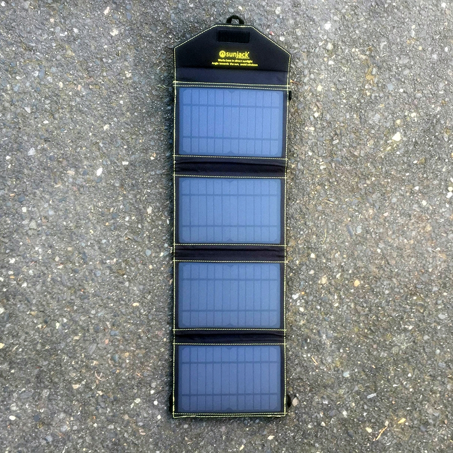 The SunJack's four solar panels