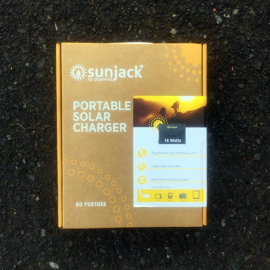 The SunJack still in its package