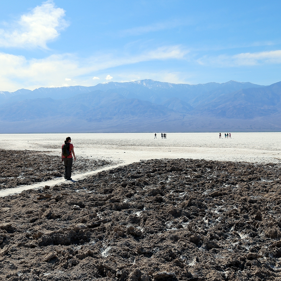 Exploring Badwater Basin, North America's lowest point
