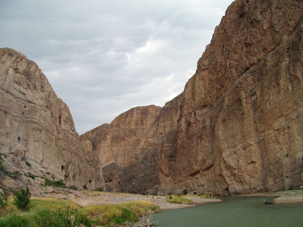 Boquillas Canyon with a boat