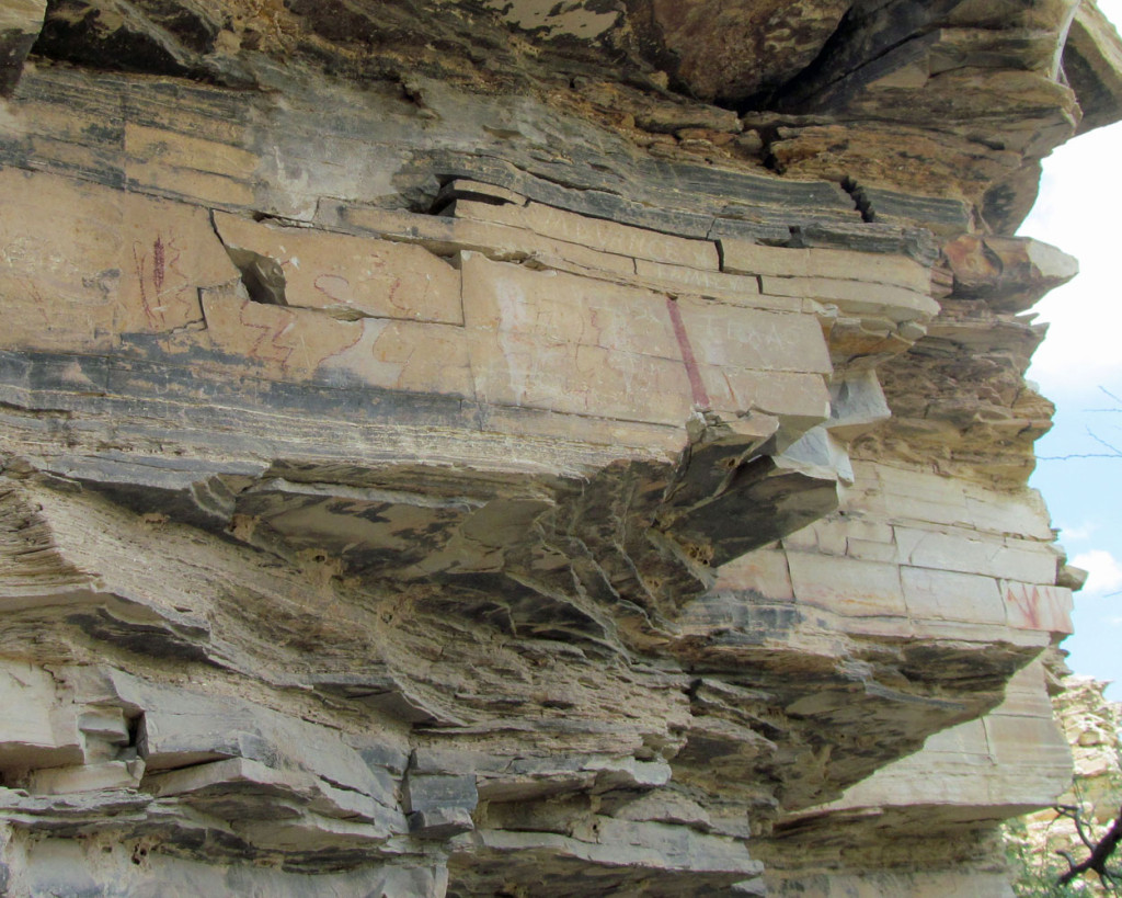 Pictographs on a cliff wall