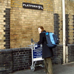 Marie at Platform 9 3/4, Kings Cross Station