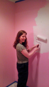 Painting the day we bought it