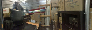 Glorious panorama of all that's left of our stuff that isn't coming on the road with us!