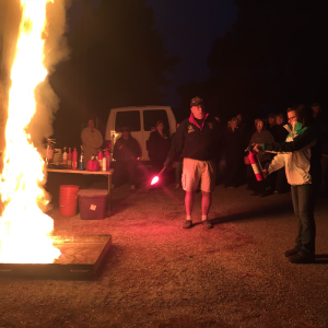 Mac the Fire Guy leads an RV fire safety course