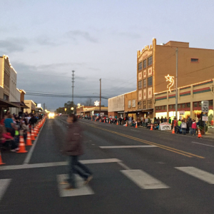 Everyone lining up for the Christmas Parade