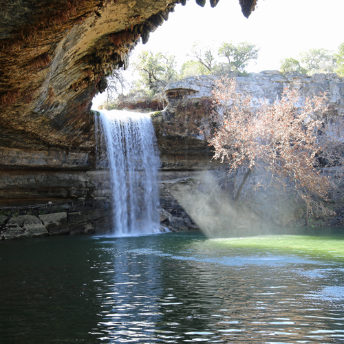 One of the most gorgeous swimming holes in Texas was looking its best