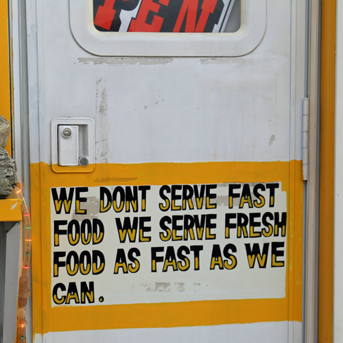 This philosophy = good eats