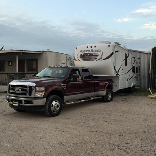 Hitched and ready to depart from Best Preowned RV