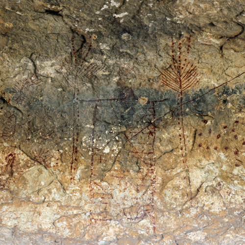 Humidity and dust are damaging the pictographs, but conservators haven't found a good way to preserve them yet.