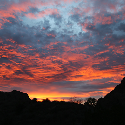 Watching the sun set in Big Bend National Park's Chisos Basin