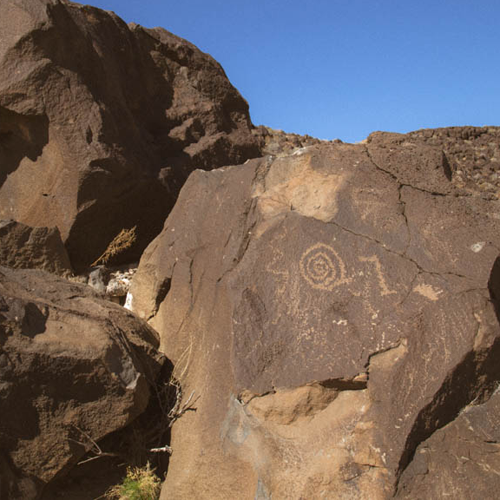 Petroglyphs at Boca Negra Canyon