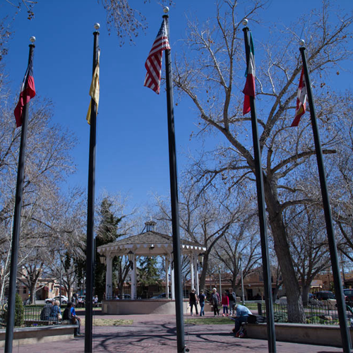Flags in the Plaza
