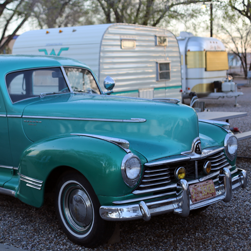 Another Hudson is matched with a 1963 Winnebago canned ham