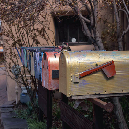 Mailboxes on Gypsy Alley