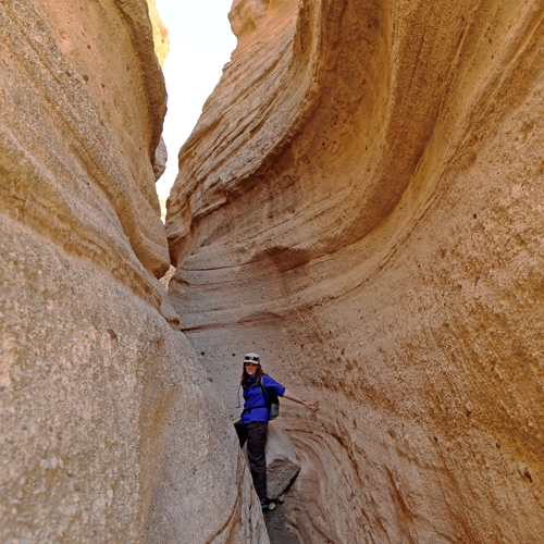 Slot canyon pinch point