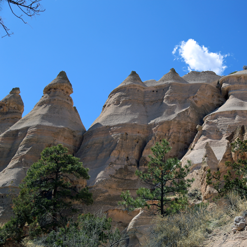 Tent rocks, all up close and personal