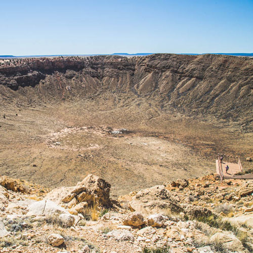 50,000-year-old meteor crater