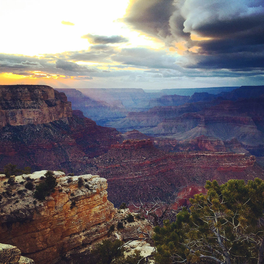 Laying eyes on the Grand Canyon, a bucketlist item