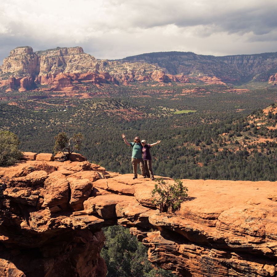 Waving hello from Devil's Bridge in Sedona, Arizona