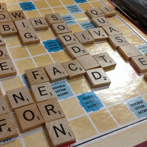 Scrabble on a rainy day