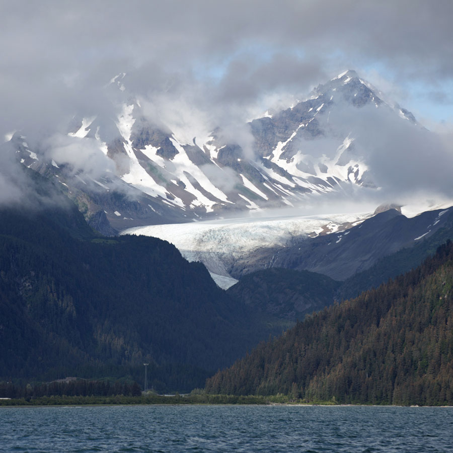 Seward, where glaciers are quite literally surrounding you