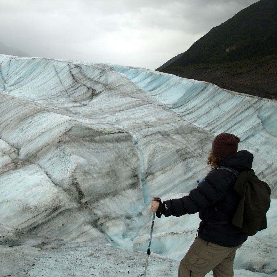 Hiking on a glacier. Also just, like, generally.