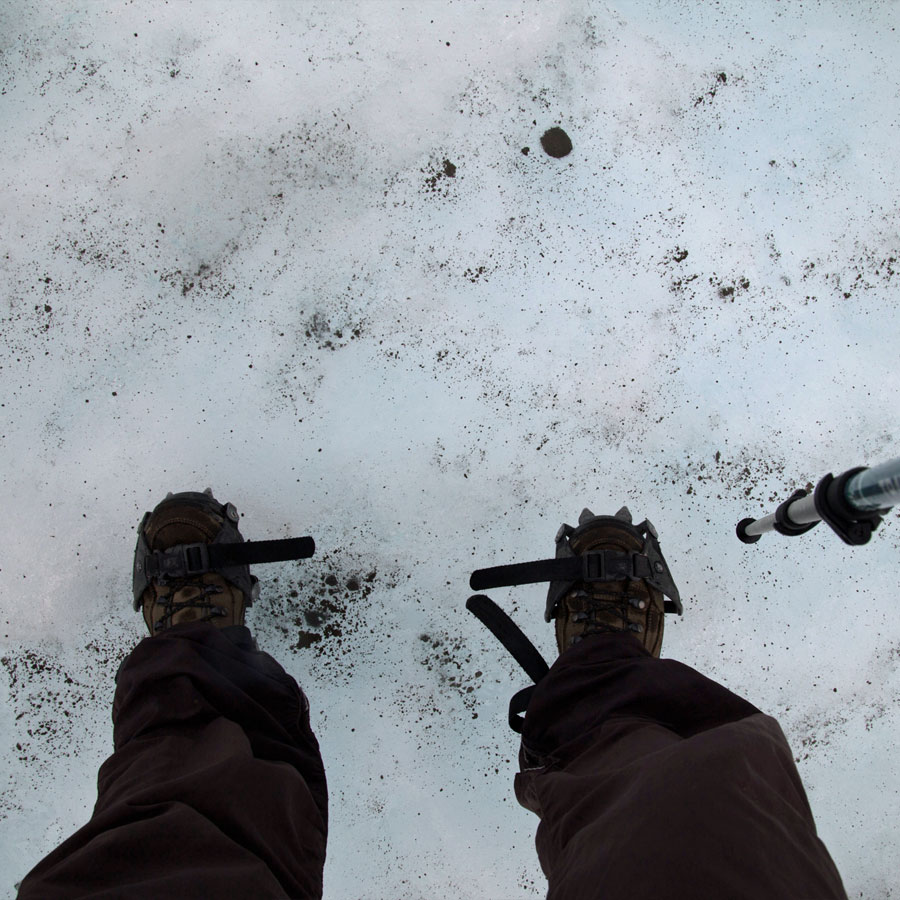 These mini strap-on ice picks for your feet keep you from slipping