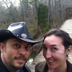 Eric and Brittany on Alabama's Tishomingo State Park 1939 Swinging Bridge